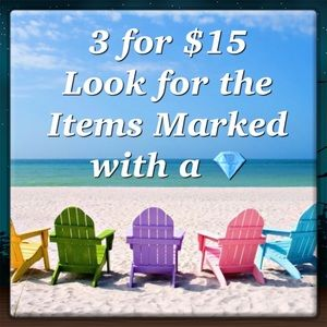 PICK ANY 3 ITEMS MARKED 3/$15 TO BUNDLE FOR $15!